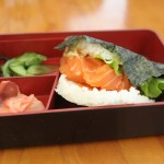 Spicy Raw Salmon Sushi Burger