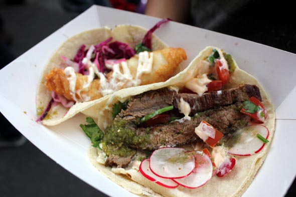 beef and fish taco from Taco Truck Melbourne